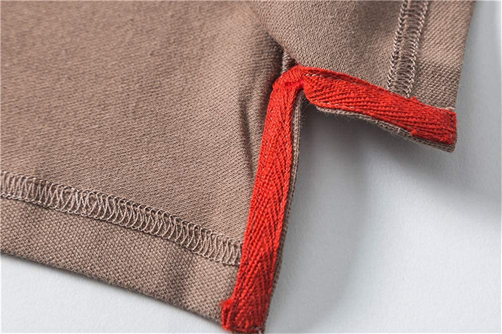 Usopu Mens Interesting Embroidery Short Sleeve Polo Shirt