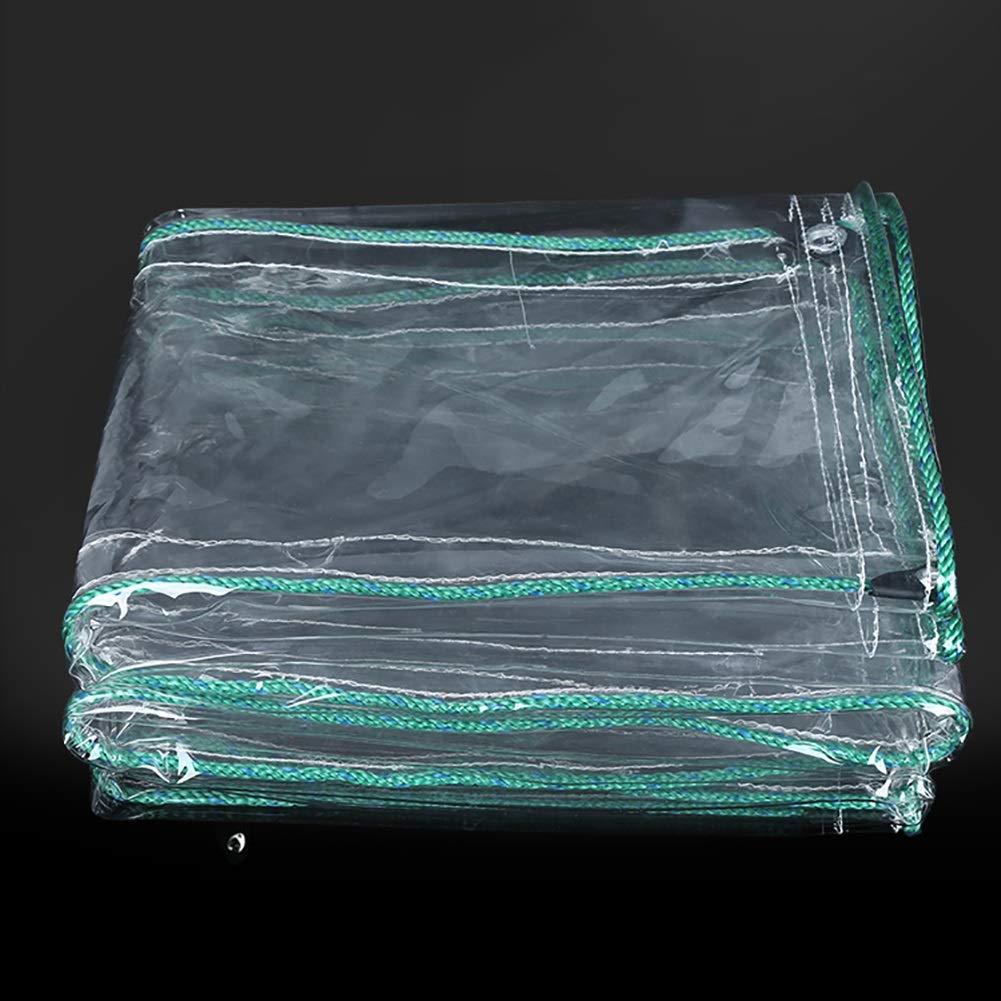 1.4x2.5M L-BHQF épaississez la bÂche Transparente de PVC la Feuille imperméable de Hangar de Tissu de récolte de Tissu de Culture de bÂche de Pluie d'ombre de bÂche Couvre Les bÂches en Plastique, 500G   m