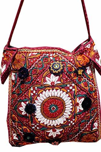 Handmade Ethnic Indian Bag Tribal Gypsy Hippie BG68 Bohemian Vintage Patchwork rvIT1pqr