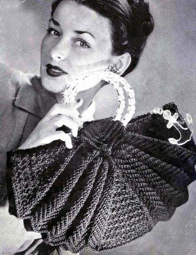 Pleated Bag No. 8030 Crocheted Handbag Crochet Purse ()