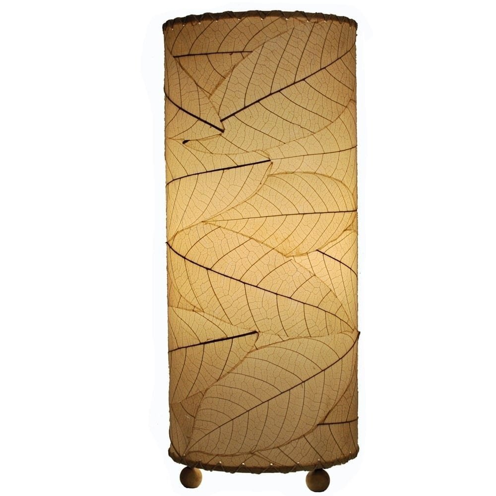 Eangee 615-t-n Contemporary Cocoa Leaf Indoor Table Lamp, Natural