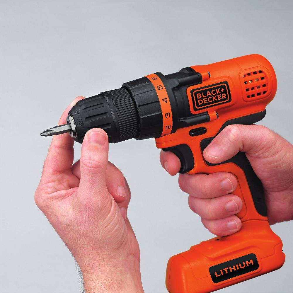 Black Decker Ldx172c 72 Volt Lithium Ion Drill Driver 3 Way Switch Screw Home Improvement