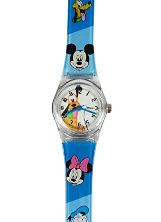92a3822edbbd Amazon.com  Blue Jelly Band Pluto Watch - Disney Pluto Kids Watch ...