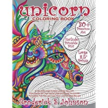 Unicorn Coloring Book: A Unicorn and Horse Lovers Delight Featuring 30+ Majestic Design Pages To Color | Patterns For Relaxation, Fun, and Stress Relief