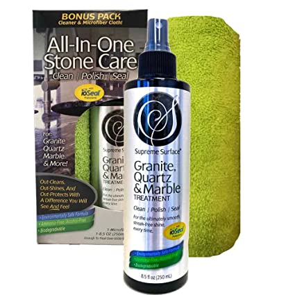 Supreme Surface Granite U0026 Quartz, Cleaner, Polish And Sealer With IoSeal  Protectants