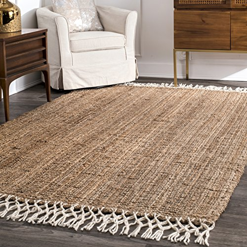 nuLOOM Raleigh Hand Woven Wool Rug, 3' x 5', Natural (Store Raleigh Room)