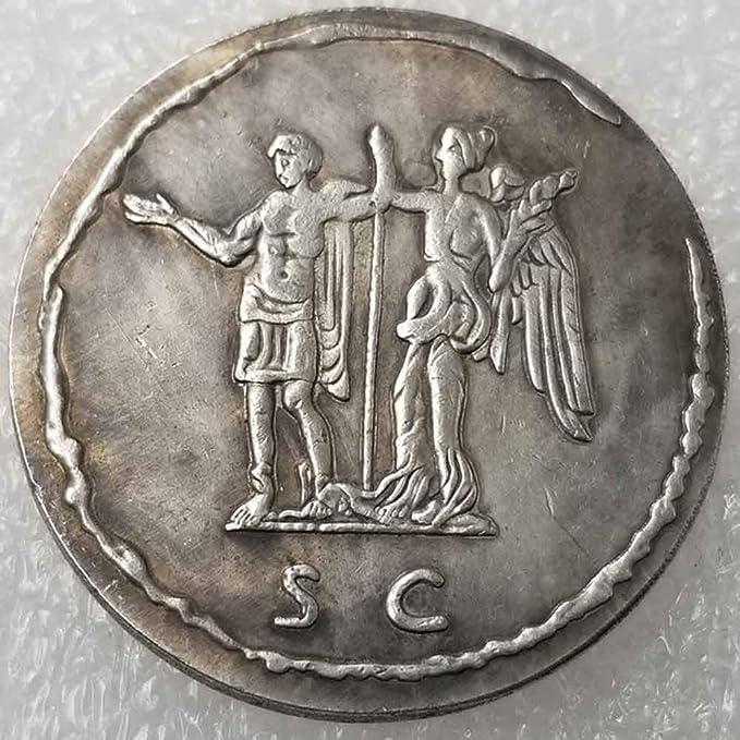 YunBest moneda romana antigua – mejor colección de monedas antiguas – Philosopher King – monedas romanas imperio – monedas antiguas chapadas en plata BestShop: Amazon.es: Hogar
