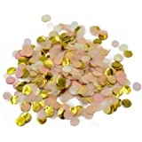 Parmay 2/5 inch Gold Blush Table Confetti Wedding Party Decoration 1/2 oz
