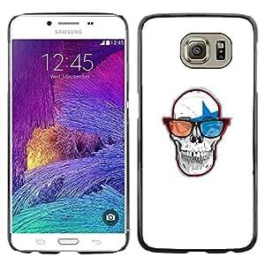 Caucho caso de Shell duro de la cubierta de accesorios de protección BY RAYDREAMMM - Samsung Galaxy S6 - Cráneo Gafas 3D