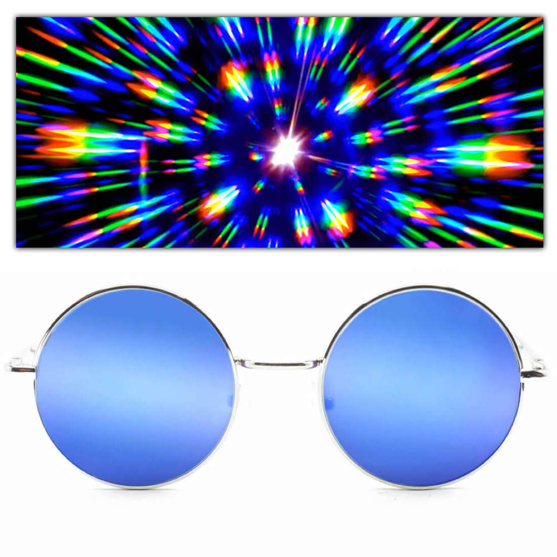GloFX Limited Edition Specialty Diffraction Glasses – Rave Eyes Party Club 3D Trippy