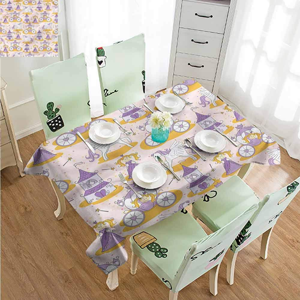 SLLART Personalized Tablecloths Princess,Magic Wand Little Pony W54 xL90,for Party