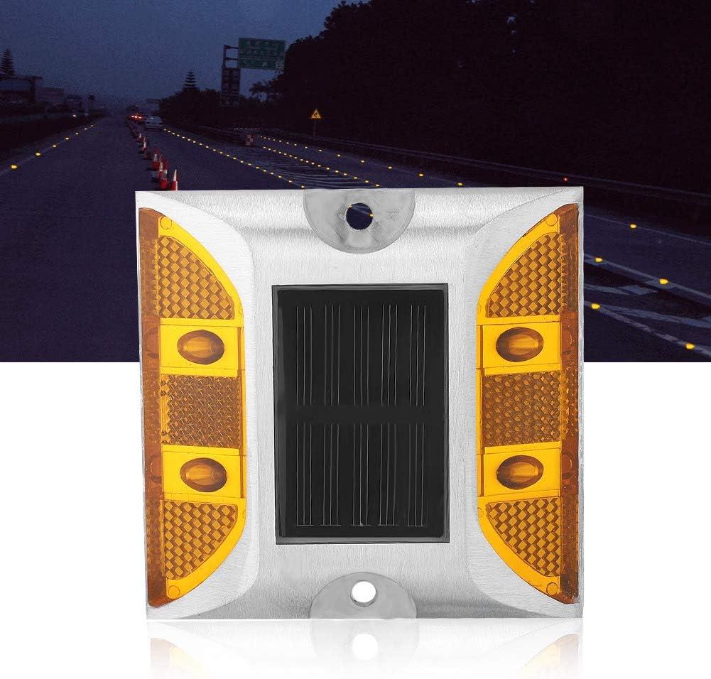 l/ámpara de energ/ía Solar para Exteriores para Advertencia de Seguridad Vial Luces solares de Cubierta Denash Luces solares de Carretera