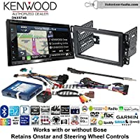 Volunteer Audio Kenwood DNX574S Double Din Radio Install Kit with GPS Navigation Apple CarPlay Android Auto Fits 2007-2013 Chevrolet Silverado, Avalanche, 2008-2013 Express