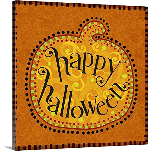 - Calico Pumpkin Halloween Canvas Wall Art Print, 36