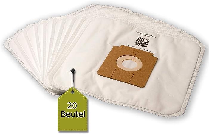 20 Bolsas de aspiradora apta para Ufesa Expert Eco, 9400, de 3 capas eVendix Bolsa de microfibras® 20 bolsas de basura: Amazon.es: Hogar