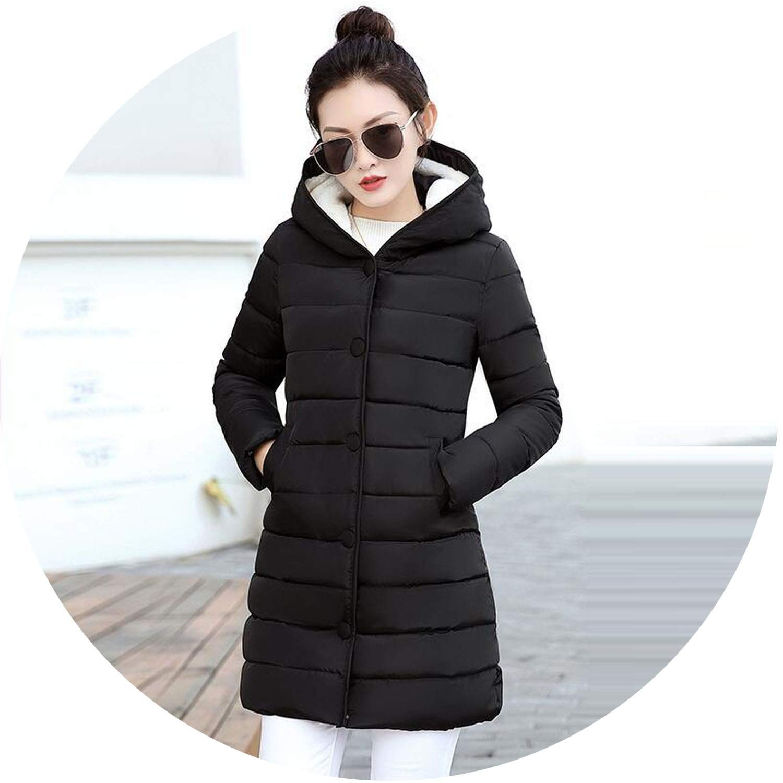 Black Women Jacket Winter Coats Elegant Down Jacket Thick Winter Coat Women Slim Parkas Warm Outwear