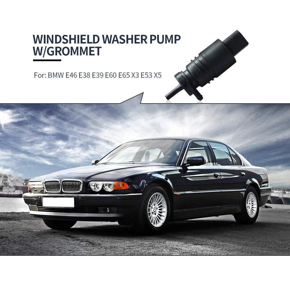 21323-232316B Windshield Washer Pump 67128362154 67128377612 Fits BMW Mercedes-Benz E46 E38 E39 E60 E65 X3 E53 X5 Z3 Z4
