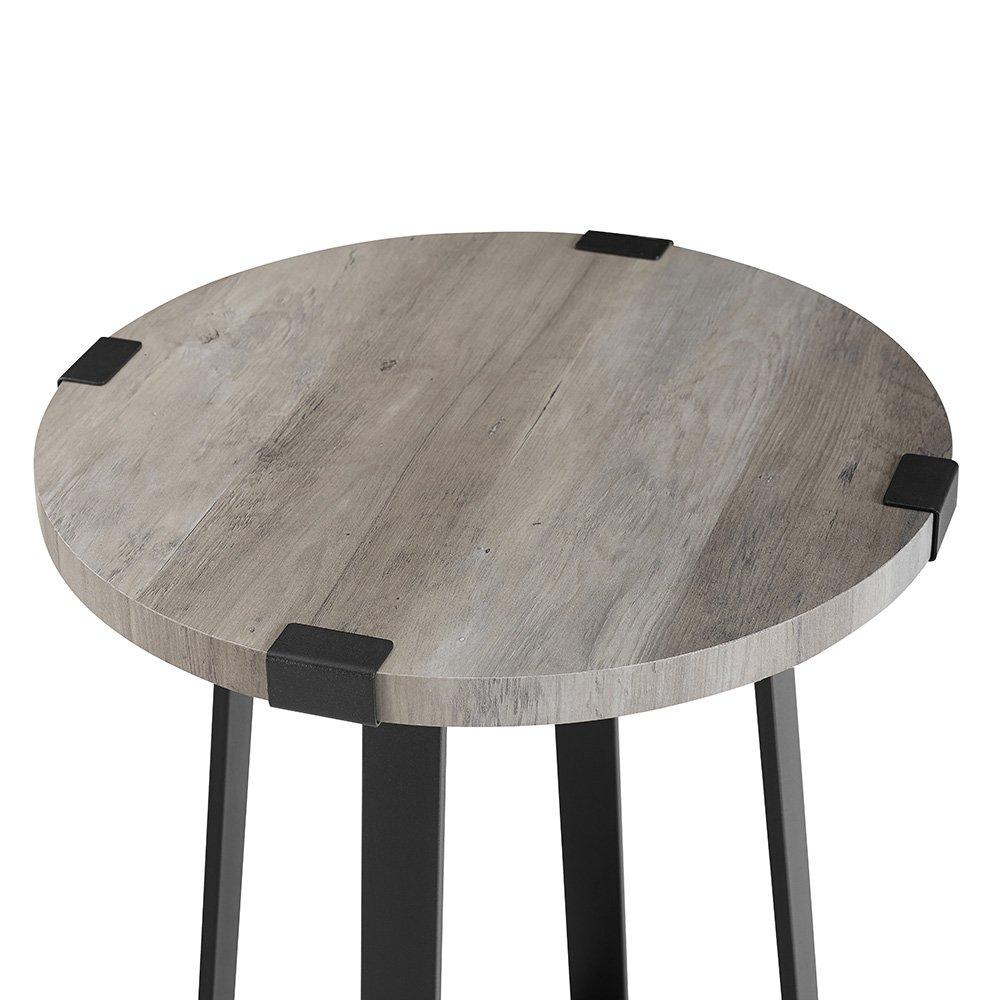 WE Furniture AZF18MWSTGW Side Table, Grey Wash by WE Furniture (Image #3)