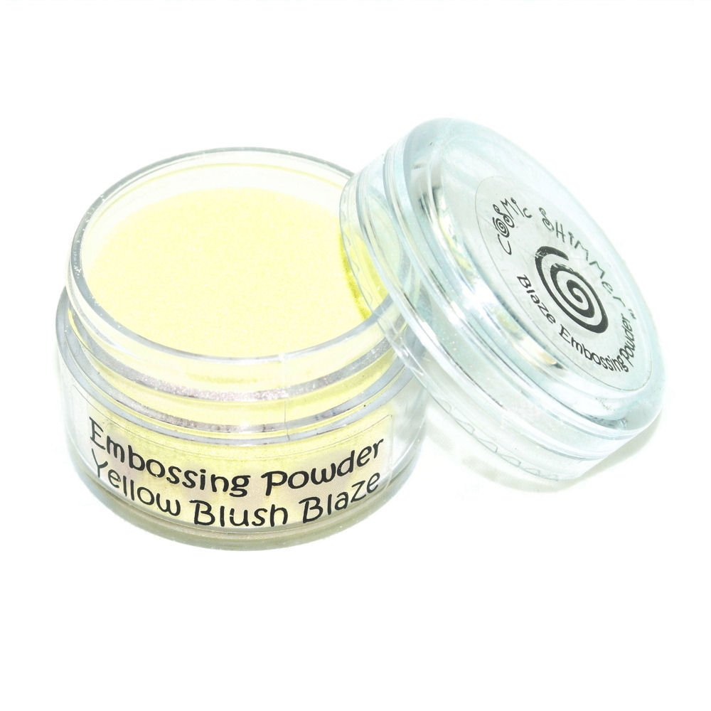 Cosmic Shimmer Blaze Empossing Powder, Yellow Blush Creative Expressions CSEPYELL