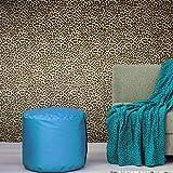 Made in Italy Portofino Textured Embossed Glitter wallcoverings Rolls Modern Embossed Vinyl Wallpaper Black Gold Metallic Leopard Cheetah Jaguar Animal Print Faux Fur Skin (Sample (8'' x 11''))