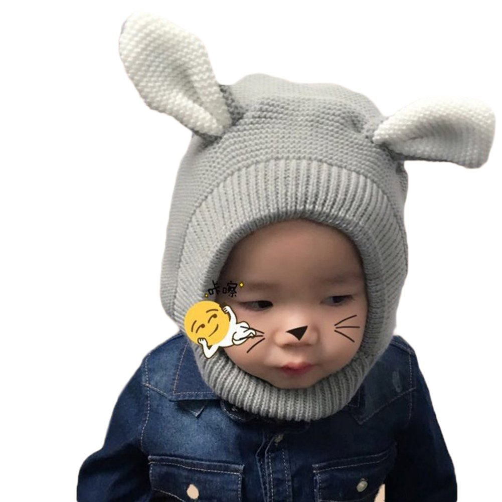 2-8 Years Old elegantstunning Cute Winter Autumn Baby Hat Cartoon Dog Style Earmuffs Hat Knitted Cap for Infant Kids Neck Warmer Caps Birthday Red 50-54cm