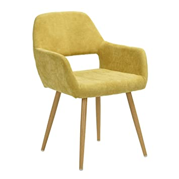 GreenForest Leisure Chair Mid Century Retro Style Thick Fabric Cushion Seat  And Back, Accent Lounge