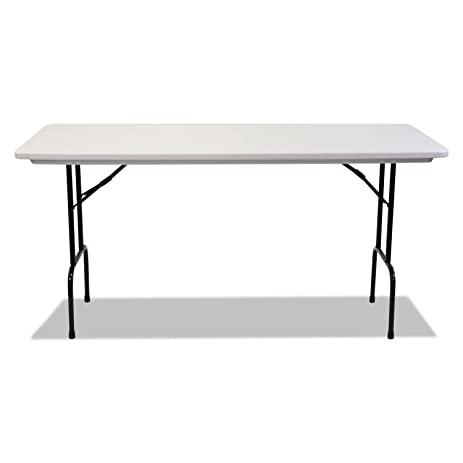 Perfect Blow Molded Resin 36u0026quot; Height Folding Table, 72w X 30d X 36h,