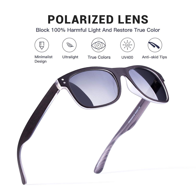 Amazon.com: Gafas de sol polarizadas para hombre, marco ...
