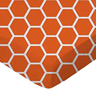 product image for SheetWorld Fitted Cradle Sheet - Burnt Orange Honeycomb - Made In USA