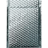 Boxes Fast BFINM1010 Cool Shield Insulated Bubble Mailers, 10'' x 10 1/2'', Silver (Pack of 100)