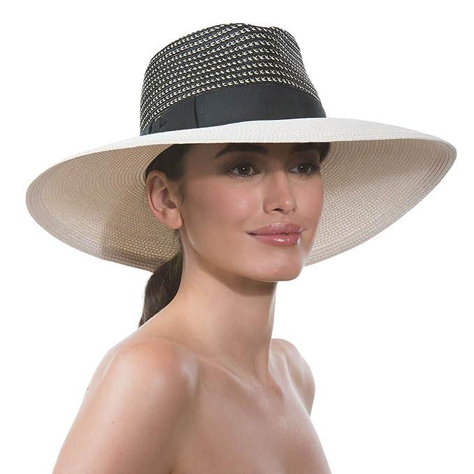 d0c9915d84b10 Eric Javits Luxury Fashion Designer Women s Headwear Hat - Daphne - Black  Mix Cream