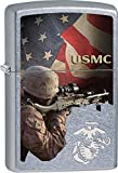 U.S. Marine Corps. Zippo Outdoor Indoor Windproof Lighter Free Custom Personalized Engraved Message Permanent Lifetime Engraving on Backside (Sniper USMC)