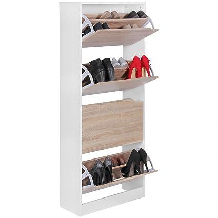 WOHNLING gabinete del zapato con 4 compartimientos para plegar ...