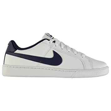 0159be9a9eab30 Nike Court Royale Leather Trainers Mens White Navy Casual Sneakers Shoes  (UK6) (
