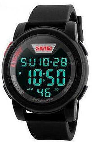 carlien nuevo marca reloj Hombre Military Sports relojes Fashion silicona impermeable LED reloj Digital: skmei: Amazon.es: Relojes
