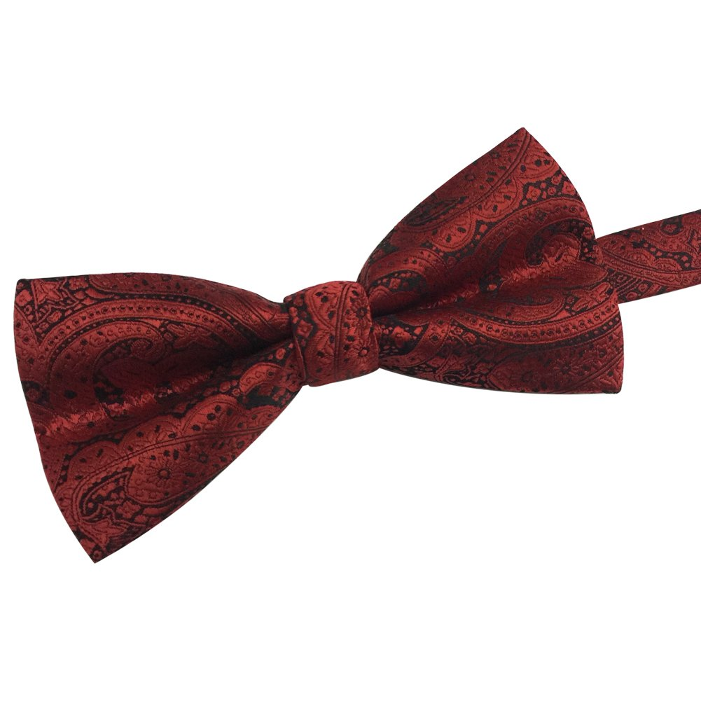 Mens Classic Pre-tied Formal Casual Adjustable Length Jacquard Fabric Tuxedo Bowtie Ties