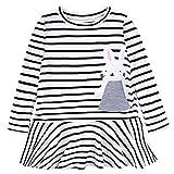 Cute Toddler Baby Girl Bunny Stripe Dress Casual