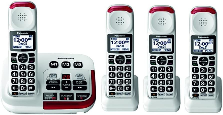Panasonic KX-TGM420W Amplified Cordless Phone (4 Handsets)