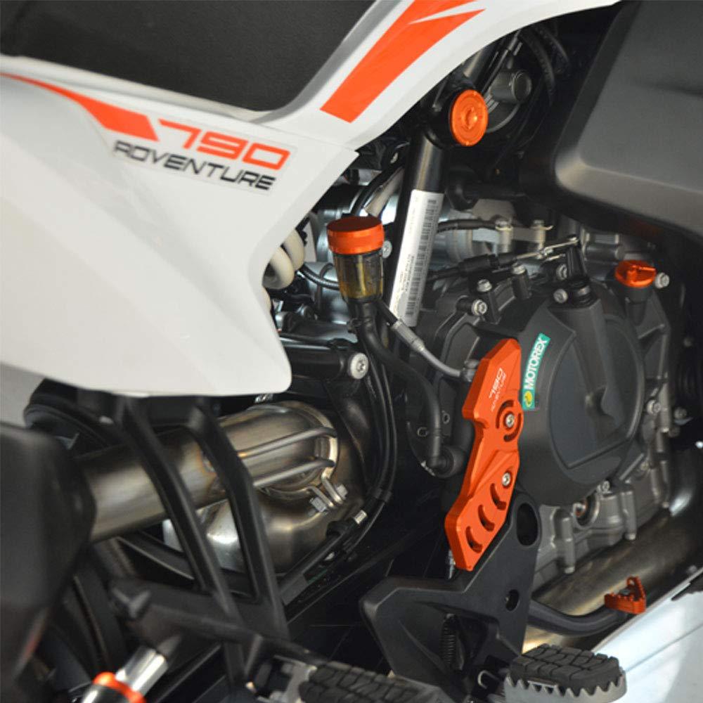 4pcs Motorcycle Fronte Retro Footrest Foot Peg Protector Protezione per KTM Duke 125 250 390 2017 2018 2019 Arancione