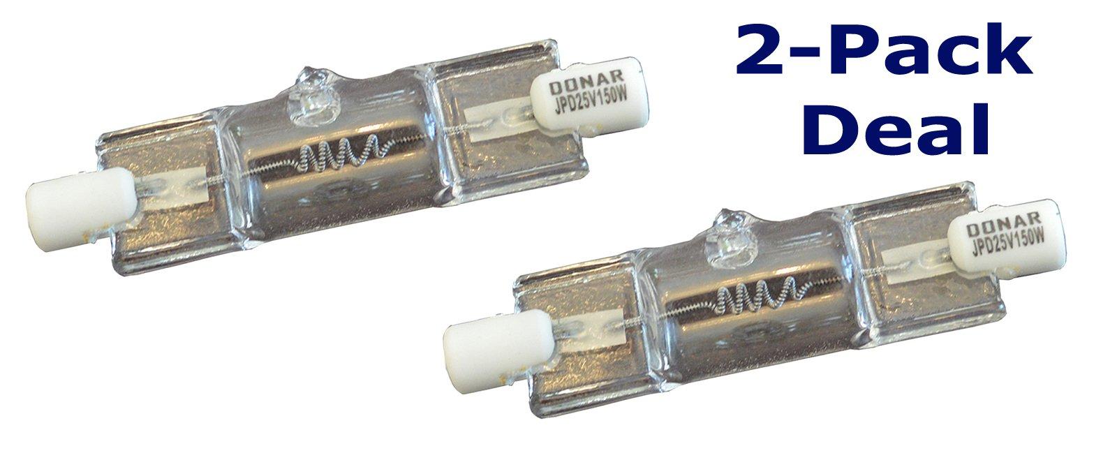2pcs 25V 150W T4 RS-34 Bulb for LAITE LT-03062 - LIGHT BULB 000-0545 150T4/CL-25V - Light Fantastic Dental Chair - LIGHT SOURCE LS-16 JPD 25V 150W G1 LS-16-GE – OSRAM 58930 – LUMINESCENT LDL-4076
