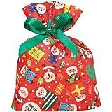 包む ラッピング袋 巾着バッグ サンタサンタ Sサイズ C-2547
