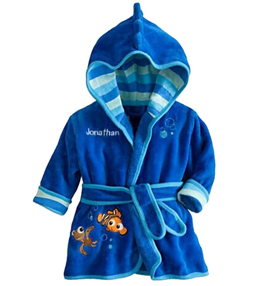 Children's Hooded Bathrobe Kids Soft Fleece Pajamas Sleepwear MB16