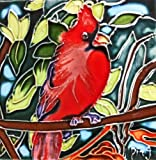 Continental Art Center SD-037 4 by 4-Inch Cardinal Ceramic Art Tile