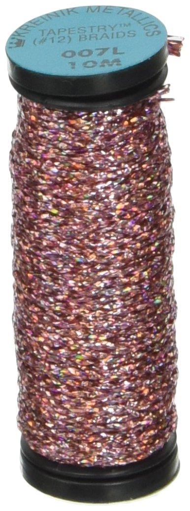 Kreinik No.12 Metallic 10m Tapestry Craft Braid Kinetic Kelly 11-Yard
