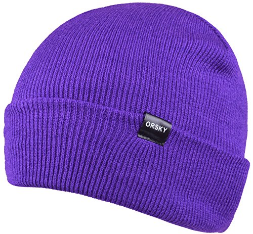 [Purple Beanie Hat Knit Skull Cap Hats Warm Beanies Caps for Men and Women] (Purple Hats For Sale)