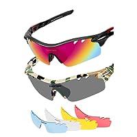Polarized Sunglasses Mens Sunglasses 2 Pairs Sports Sunglasses for Men Women Fishing Cycling