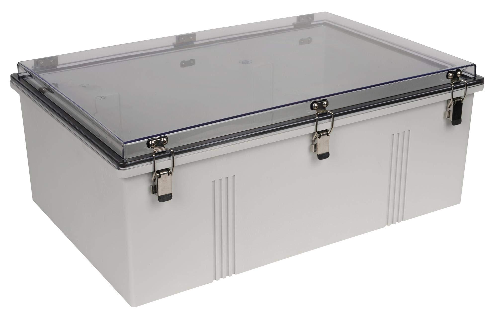 BUD Industries PTH-22440-C Fiberglass Hinged Box, Standard Orientation