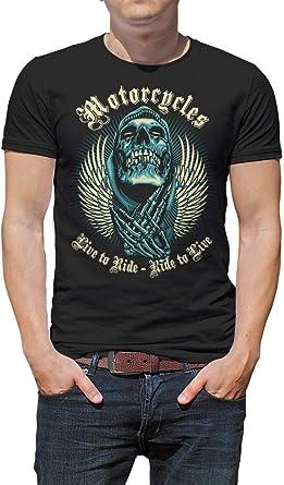 SPEEDMASTERS Camiseta Motera Hombre Modelo Calavera: Amazon.es: Ropa y accesorios