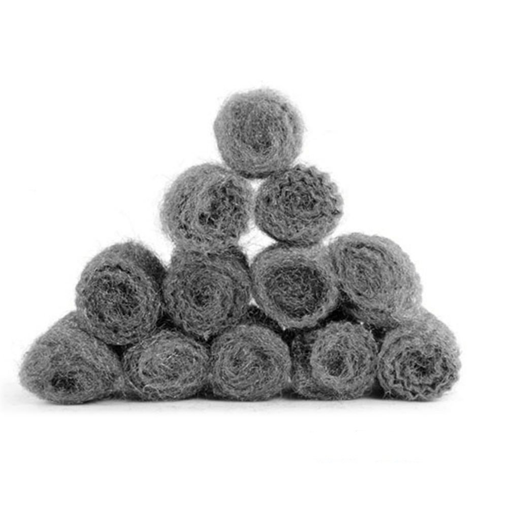 IETONE 12Pcs Stainless Steel Wool Scourer Kitchen Tableware Pot Pan Dish Clean Heavy Duty New Cleaner Cleaning Ball