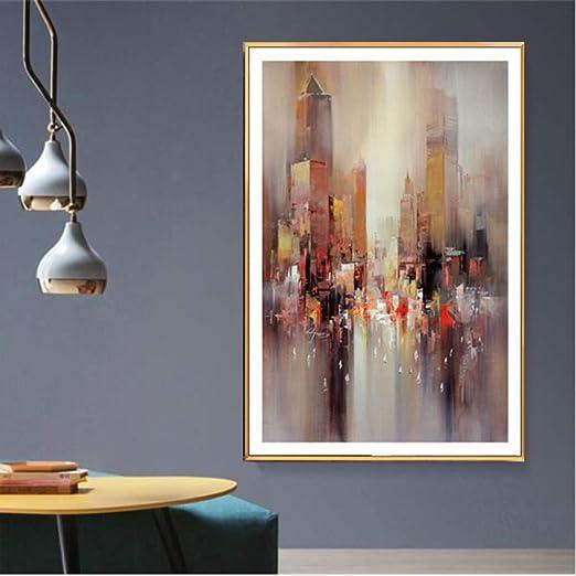 WSWWYArte De Pared Lienzo Pintura Moderno Abstracto Edificio ...